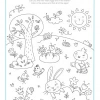 easter color sheet