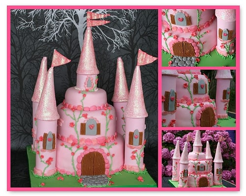 pricess castle cake