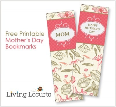 Mothers Day Free Printable Bookmarks