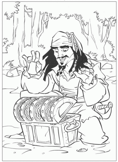 Free Party Printables - Pirates of the Caribbean - Coloring Pages