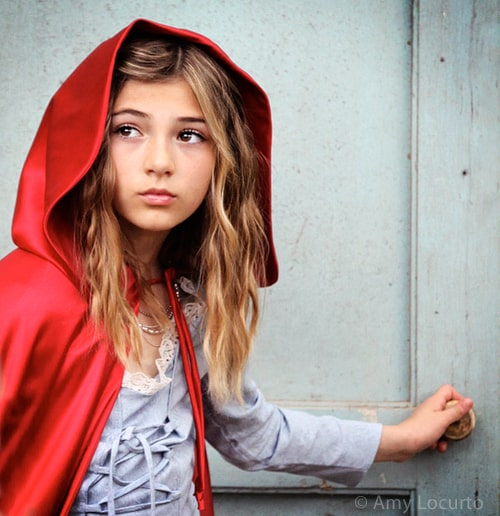 little red riding hood photo session