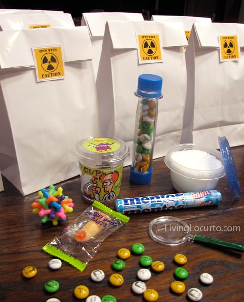 Science Party Free Printable Stickers - Fun Birthday Party Ideas for Boys! LivingLocurto.com