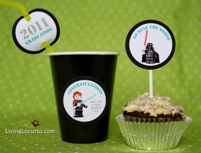 Star Wars Free Printable Graduation Party Tags