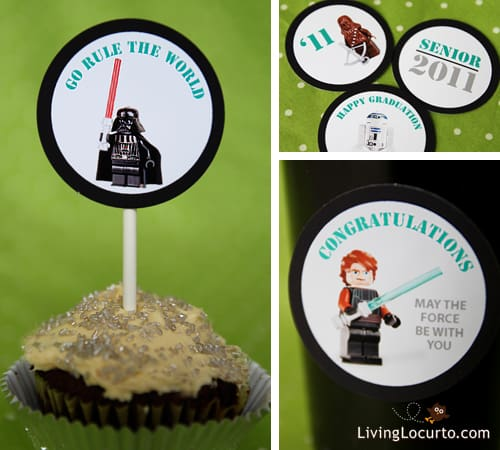 Star Wars Legos Free Printable Graduation Party Tags