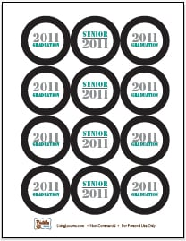 2011 Graduation Free Printable Cupcake Toppers