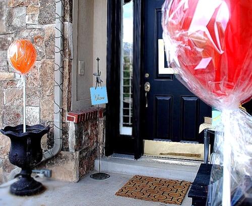 lollipops front porch party decor