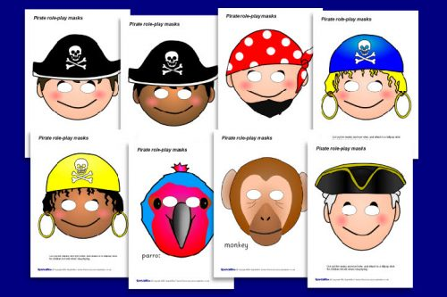 pirate masks Free Party Printables - Pirates of the Caribbean