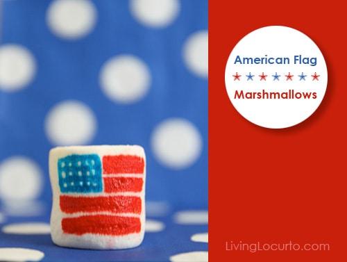 American Flag Marshmallows