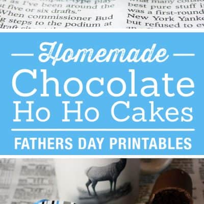 Homemade Chocolate Ho Ho Cake Recipe | Father's Day Printables