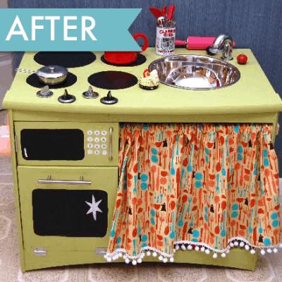 Play Kitchen – Trash to Treasure