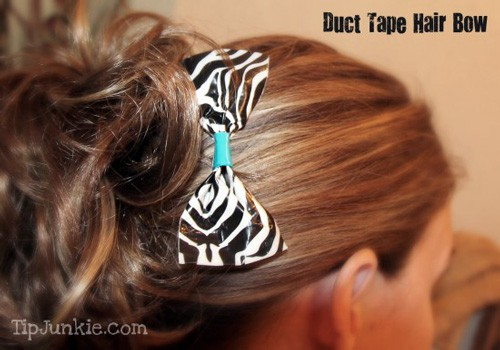 Duct Tape Bow - Tip Junkie Tutorial