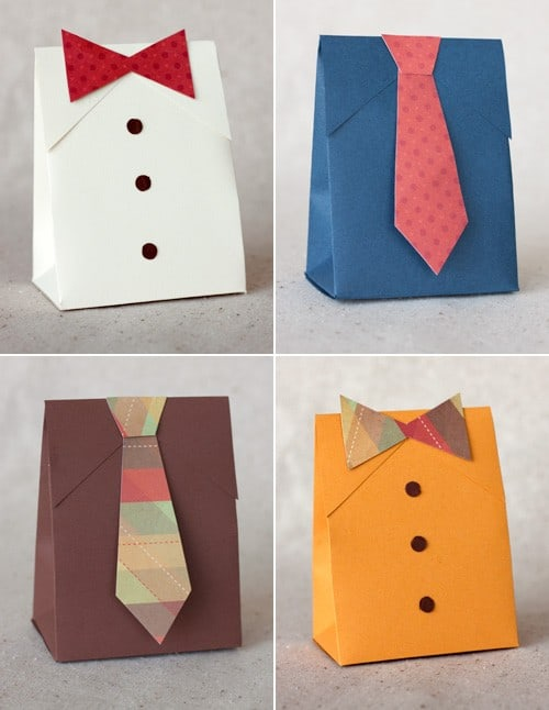 DIY Bags for Father´s Day. Instructions and Templates.