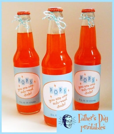 Father's Day Free Printable Pop Labels