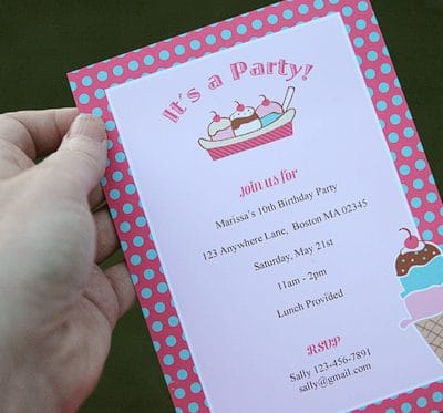Vintage Ice Cream Party {Printables}