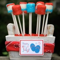 Forth of July - Red, White & Blue Marshmallow Pops