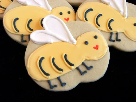 Bee Cookies by Bake at 350