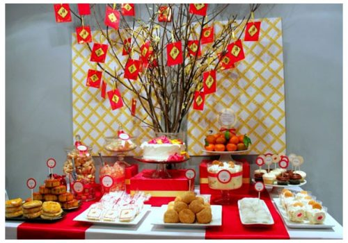 Chinese Party dessert table
