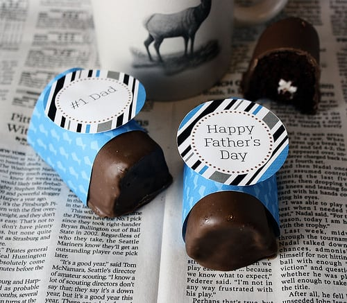Fathers Day Recipe- Homemade Ho Hos and Free Printables by LivingLocurto.com