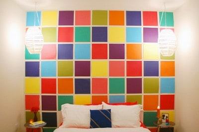 paper mosaic wall