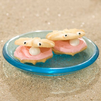 Under the Sea Cute Clam Cookies