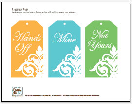 Free Printable Luggage Tags. LivingLocurto.com