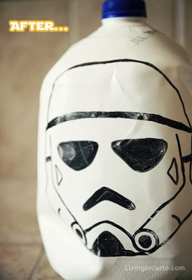 Starwars milk carton craft - After
