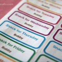 Free Printable School Snack Labels