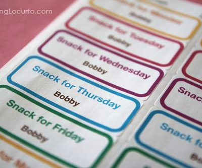 Free Printable School Snack Labels