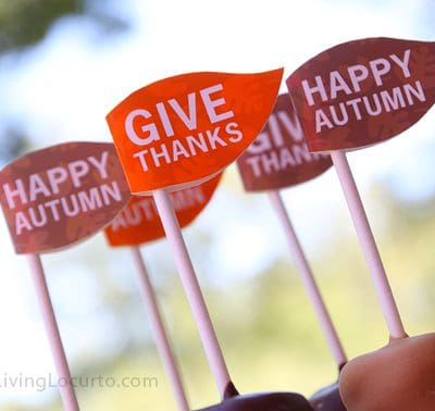 Thanksgiving Dessert Printable Party Flags