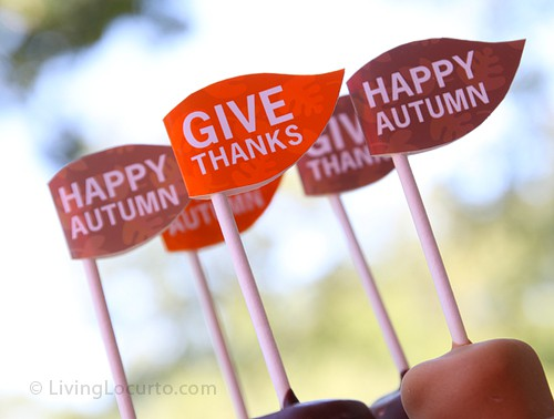 Happy Autumn Dessert Flags - Free Printable by Living Locurto