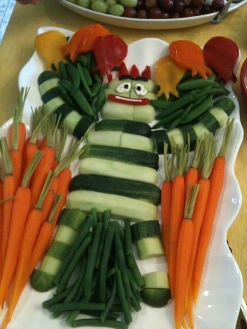 10 Creative Vegetable Trays and Veggie Tray Platter. Yo Gabba Gabba Vegetable Tray