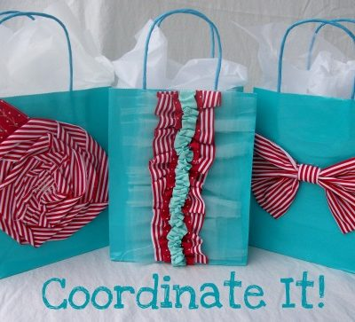 Fabric Embellished Gift Bags {Easy Sew Craft}