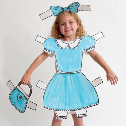 paper doll halloween costume