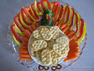 10 Creative Vegetable Trays & Veggie Platters - Thanksgiving Turkey Vegetable Tray