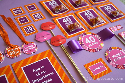 40th Birthday Party Printables Giveaway