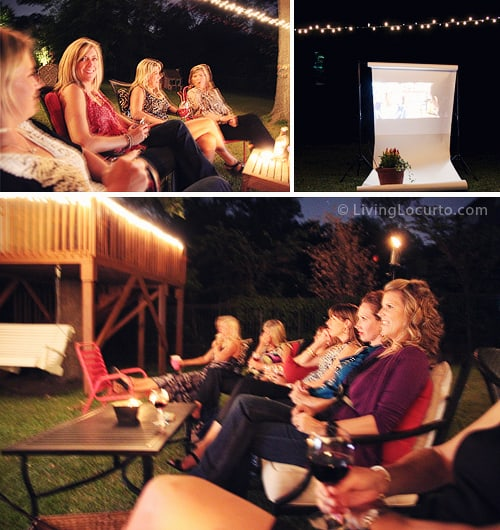 Backyard Movie Birthday Party