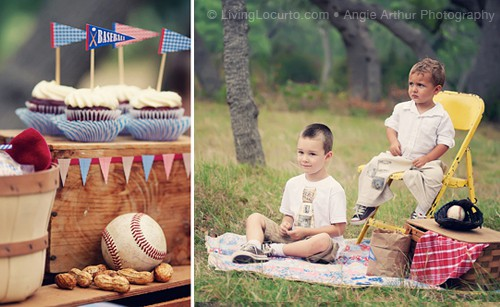 Cute Baseball Birthday Party Ideas and Party Printables for boys. LivingLocurto.com