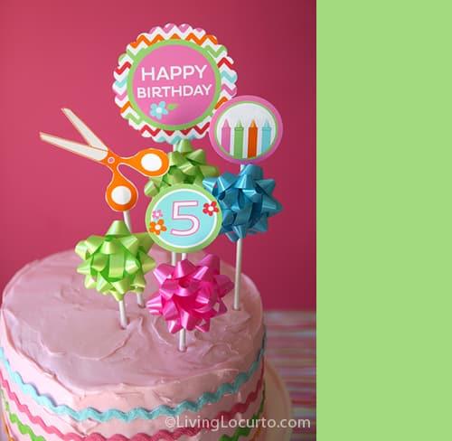 Craft Birthday Cake Party Printables