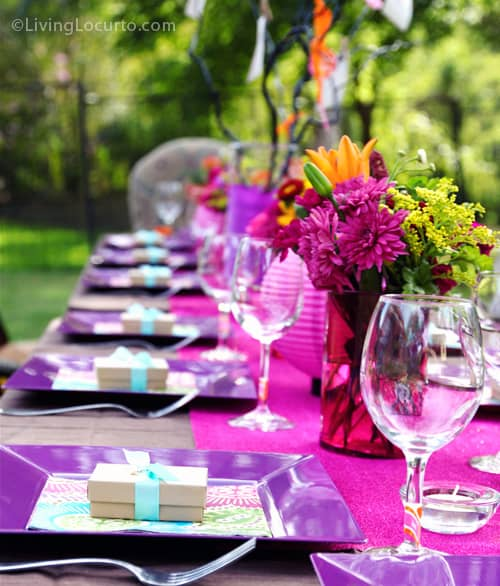 40th birthday party ideas backyard table decorating ideas for Outdoor table decor ideas