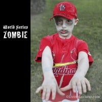 Cardinal Zombie Halloween Costume - World Series Baseball