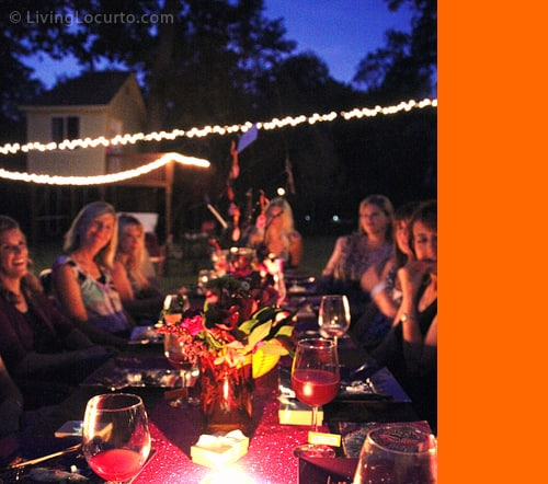 Outdoor Birthday Party Dinner