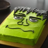 Frankenstein Monster Halloween Cake