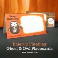 Free Party Printables - Halloween Placecards