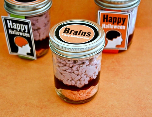 Halloween Recipe- Brains in Jar Treat