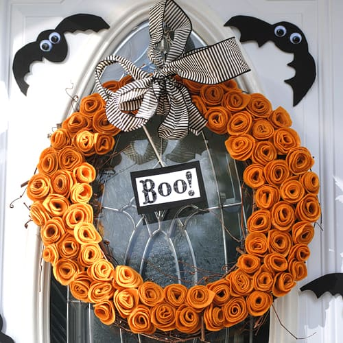 Halloween Wreath - Fabric Craft