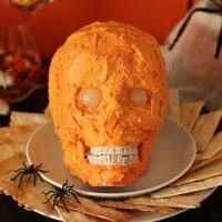 Halloween Skull Cheese Dip