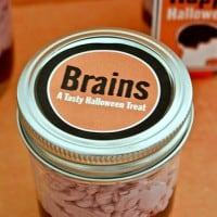 Halloween Recipe- Brains in Jar Treat - Free Party Printables
