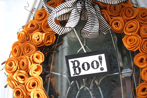 Halloween Wreath Fabric Craft