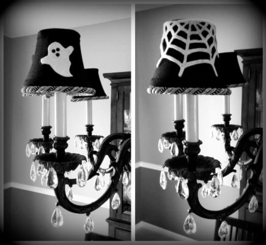 How to make halloween lamp shades halloween ghost lampshades aloadofball Images