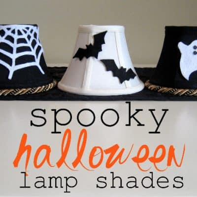 How To Make Halloween Lamp Shades